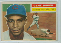 1956 Topps Baseball 142 Gene Baker Chicago Cubs Good to Very Good White Back