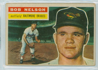 1956 Topps Baseball 169 Bob Nelson Baltimore Orioles Good to Very Good Grey Back