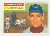 1956 Topps Baseball 212 Johnny Temple Tough Series Cincinnati Reds Good to Very Good
