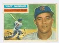 1956 Topps Baseball 230 Chico Carrasquel Tough Series Cleveland Indians Good to Very Good