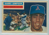 1956 Topps Baseball 239 Harry Simpson Tough Series Kansas City Athletics Fair to Poor