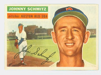 1956 Topps Baseball 298 Johnny Schmitz Boston Red Sox Near-Mint