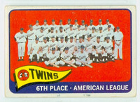 1965 Topps Baseball 24 Twins Team Fair to Good