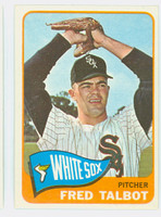 1965 Topps Baseball 58 Fred Talbot Chicago White Sox Excellent to Mint