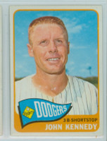 1965 Topps Baseball 119 John Kennedy Los Angeles Dodgers Excellent to Mint