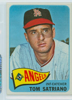 1965 Topps Baseball 124 Tom Satriano California Angels Excellent to Mint