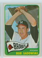 1965 Topps Baseball 156 Bob Sadowski Milwaukee Braves Excellent to Mint