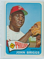 1965 Topps Baseball 163 John Briggs Philadelphia Phillies Excellent to Mint