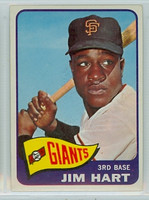 1965 Topps Baseball 395 Jim Hart High Number San Francisco Giants Excellent
