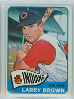 1965 Topps Baseball 468 Larry Brown High Number Cleveland Indians Excellent to Excellent Plus