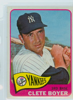 1965 Topps Baseball 475 Clete Boyer High Number New York Yankees Excellent to Excellent Plus