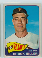1965 Topps Baseball 531 Chuck Hiller High Number San Francisco Giants Excellent to Excellent Plus