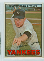 1967 Topps Baseball 5 Whitey Ford New York Yankees Very Good to Excellent
