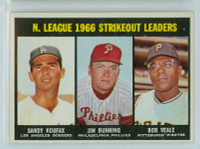 1967 Topps Baseball 238 NL Strikeout Leaders Very Good to Excellent