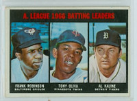 1967 Topps Baseball 239 AL Batting Leaders Very Good to Excellent