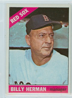 1966 Topps Baseball 37 Billy Herman Boston Red Sox Near-Mint Plus