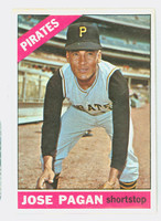 1966 Topps Baseball 54 Jose Pagan Pittsburgh Pirates Near-Mint