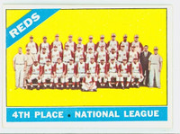 1966 Topps Baseball 59 Reds Team Excellent to Mint