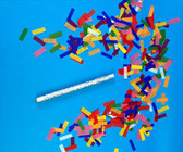 "14""inch FLUTTER FETTI CONFETTI STICK - HAND FLICK MULTI COLOR TISSUE"