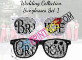 BRIDE & GROOM CUSTOM WEDDING SUNGLASSES SET 1