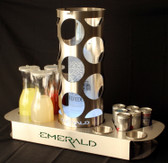 BOTTLE SERVICE TRAY EMERALD w/Cage NC