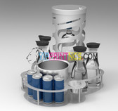 VIP Bottle Service Tray - Energy 1 with Cage - Serving Tray with Bottle Lock