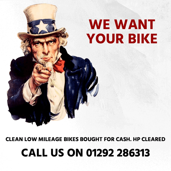 We Want Your Bikes, Call 01292 610788