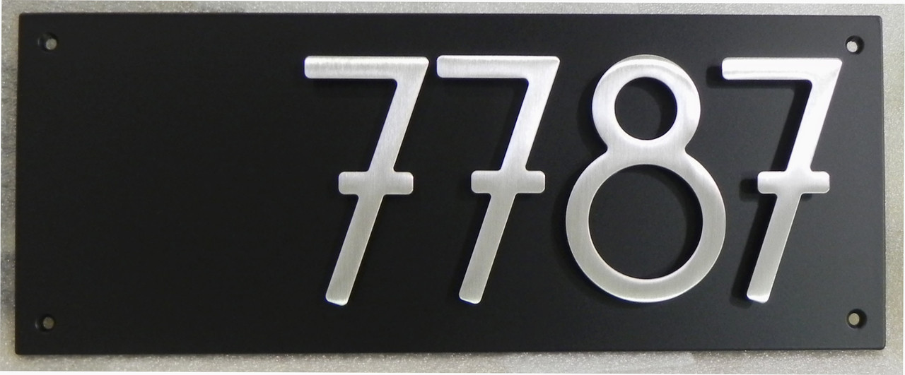 Address plaque with 5 bungalow style house numbers 4 for Bungalow house numbers