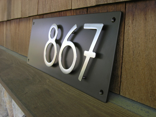 Address plaque with 5 bungalow style house numbers 3 for Bungalow house numbers