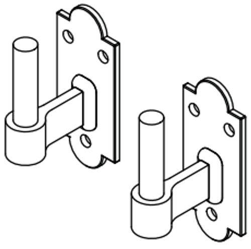 Shutter Hardware Set for FlushMount Installation 360 Yardware