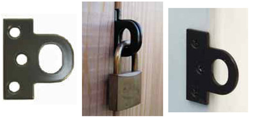 Twisted Ring Gate Latch Set 360 Yardware