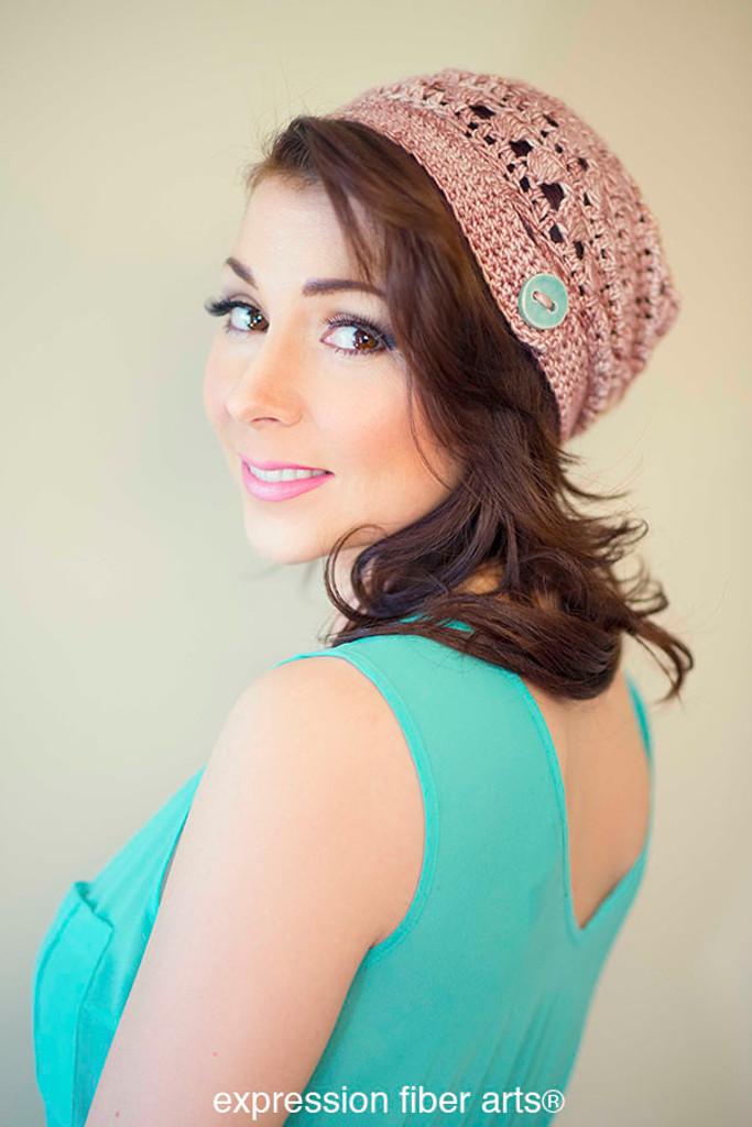 Free 'Pink Pearl Cap' Crochet Hat Pattern