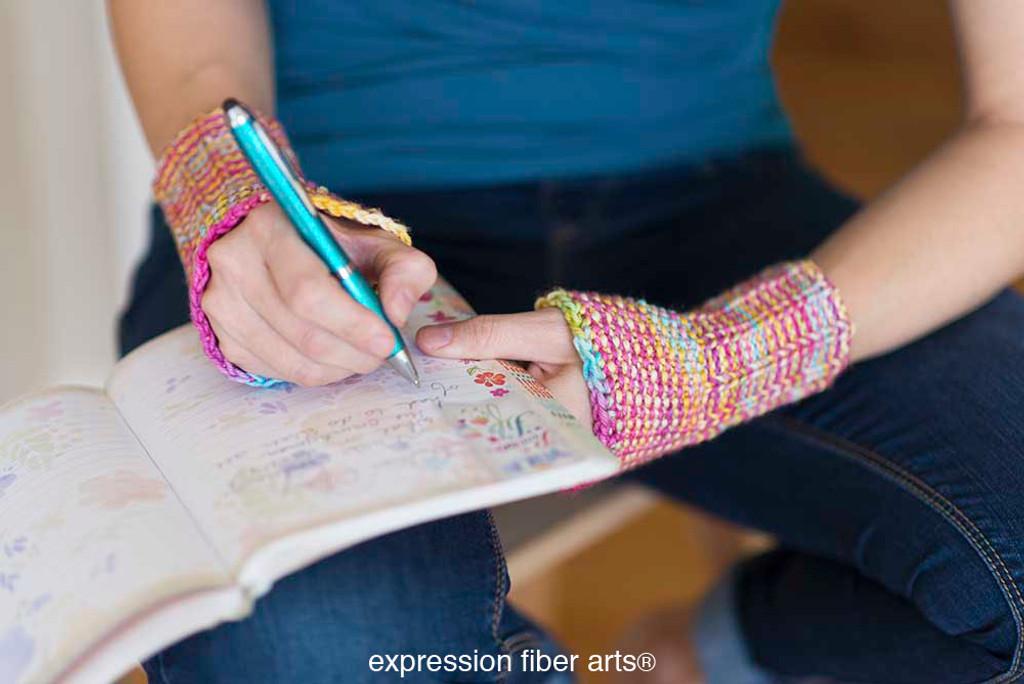 Writer's Wrist Warmers Free Knitted Pattern