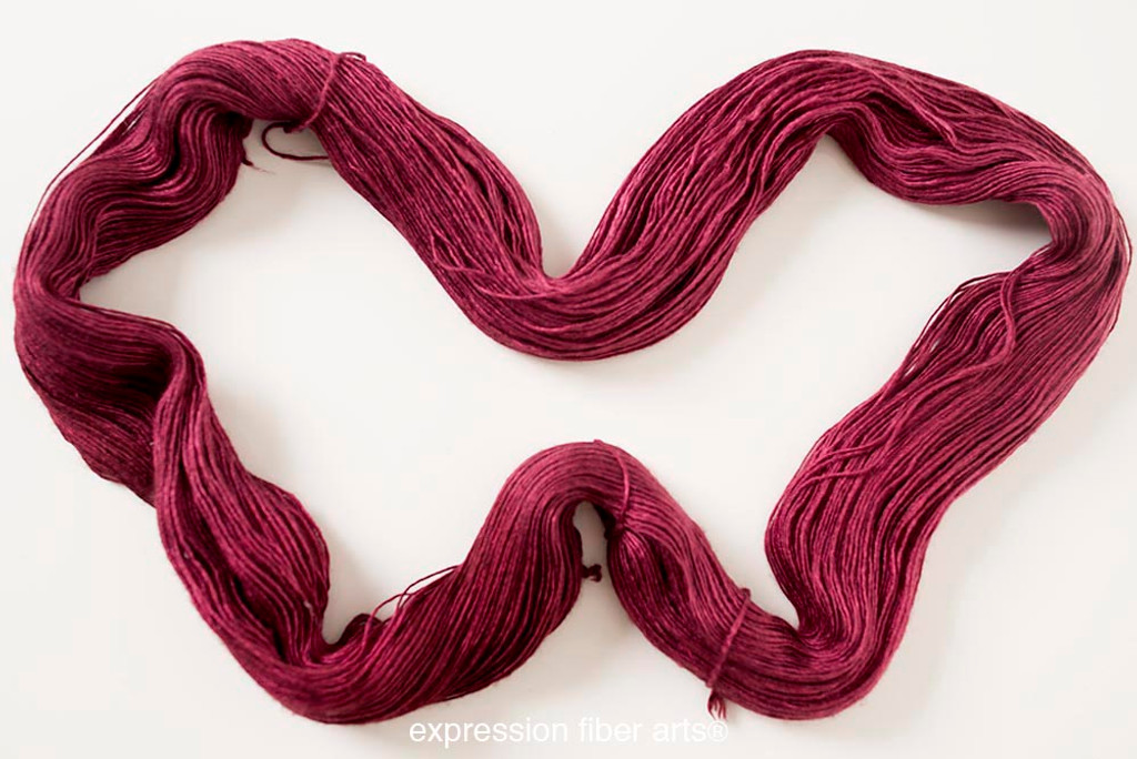 OXBLOOD SUPERWASH MERINO SILK PEARLESCENT FINGERING