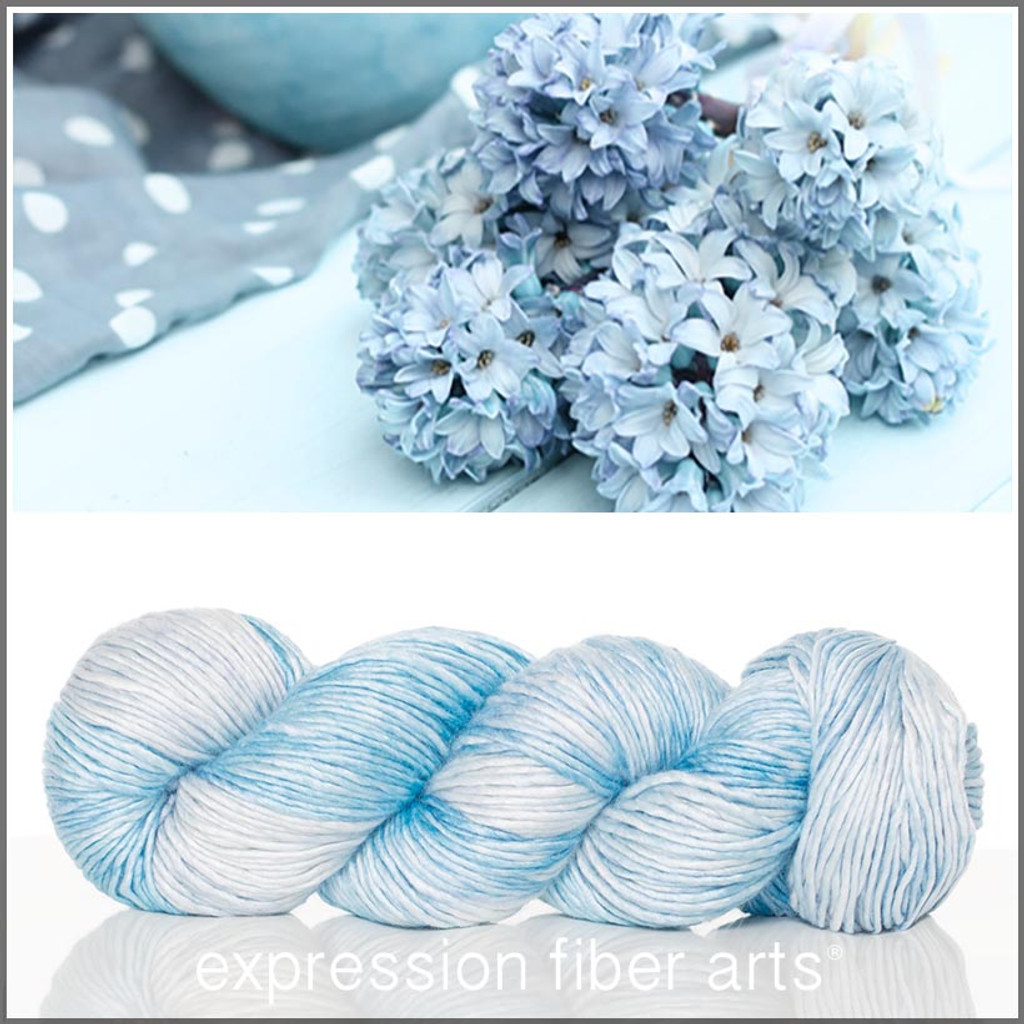 SHABBY BLUE SUPERWASH MERINO SILK PEARLESCENT WORSTED