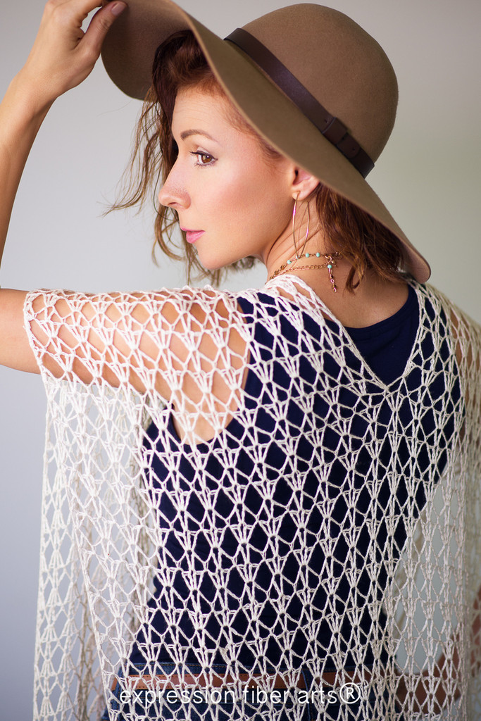 Shimmering Shells Crocheted Lace Tunic Pattern