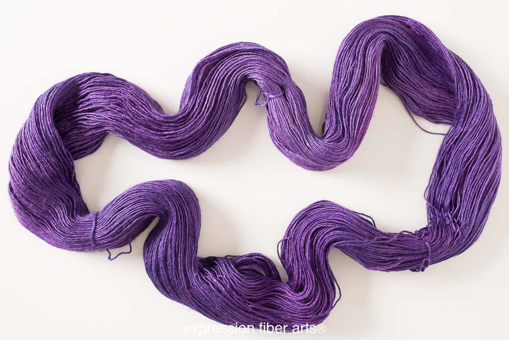 JUNE PURPLE SUPERWASH MERINO SILK PEARLESCENT FINGERING