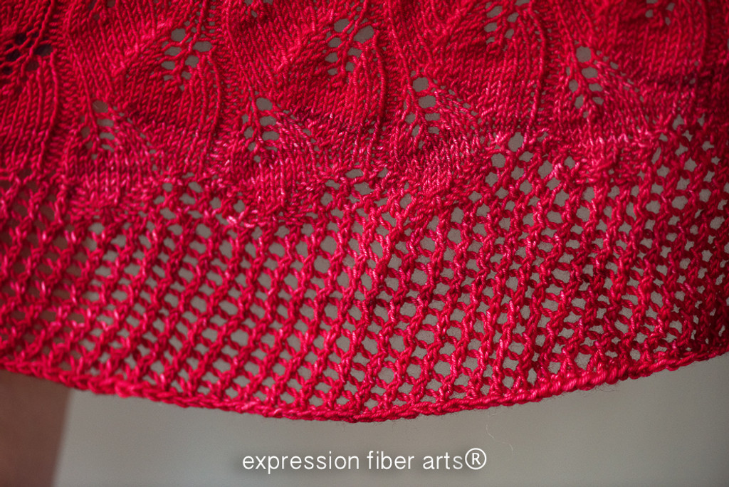 Autumn Cascade Knitted Shawl Pattern