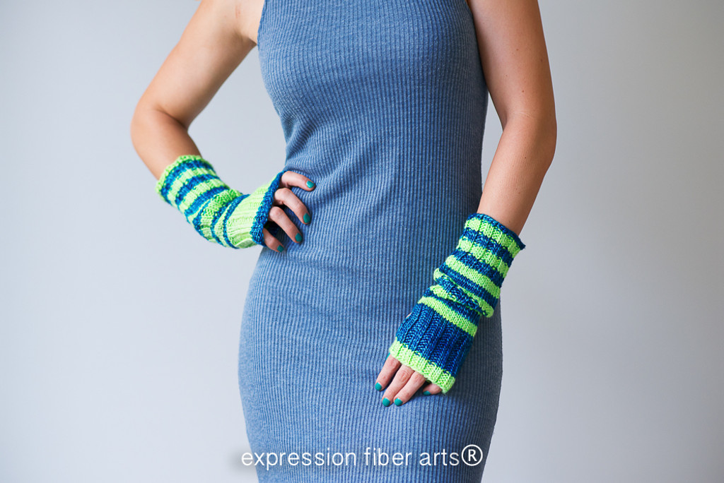Slouchable Knitted Arm Warmer Pattern