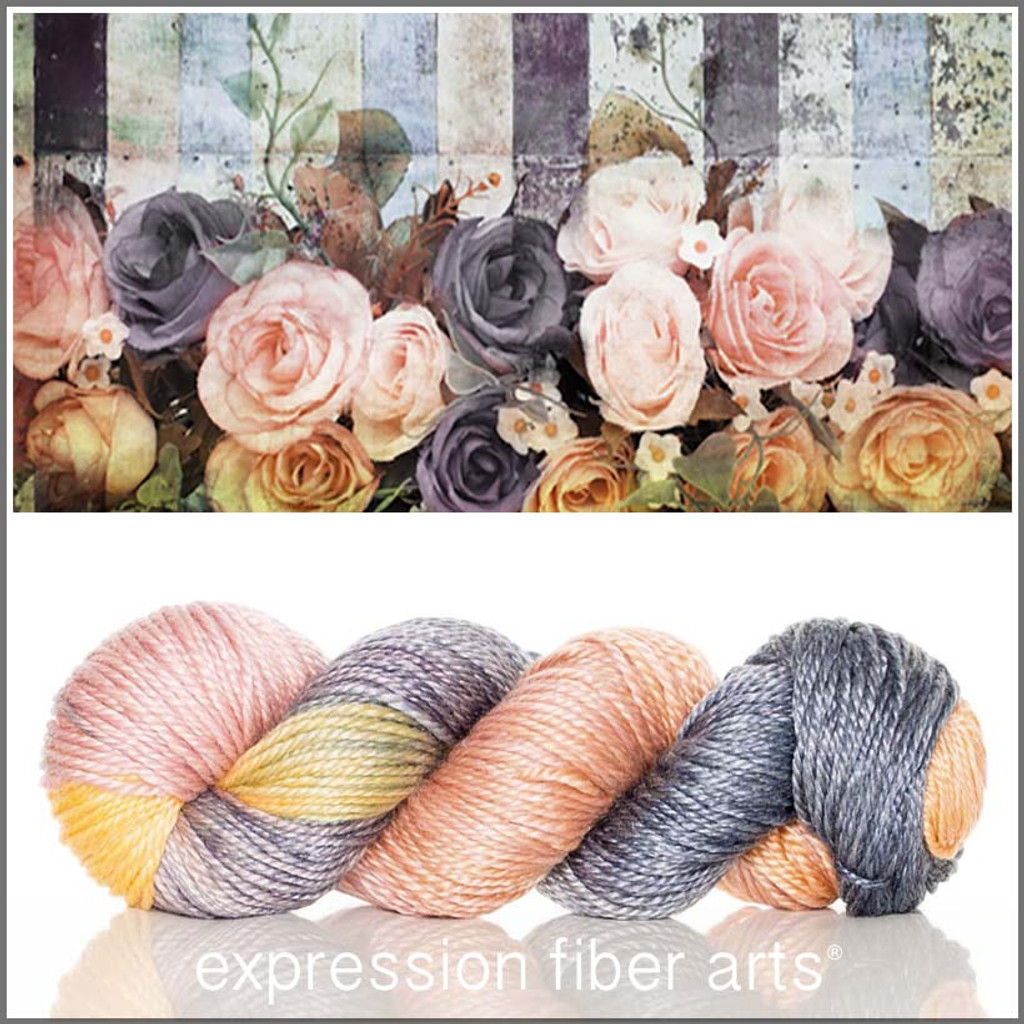 GRUNGE GARDEN 'LUSTER' SUPERWASH MERINO TENCEL WORSTED