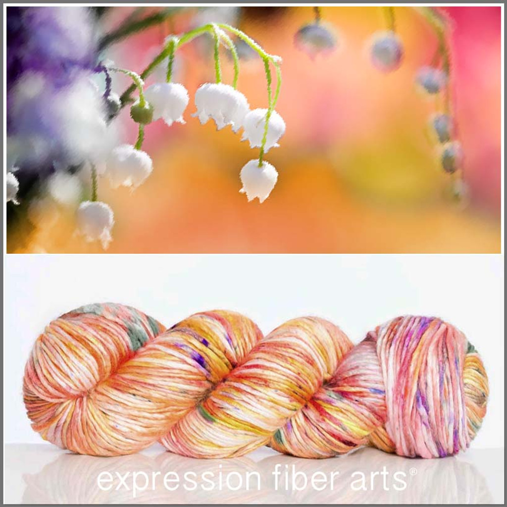 MAY LILY OF THE VALLEY SUPERWASH MERINO SILK PEARLESCENT WORSTED