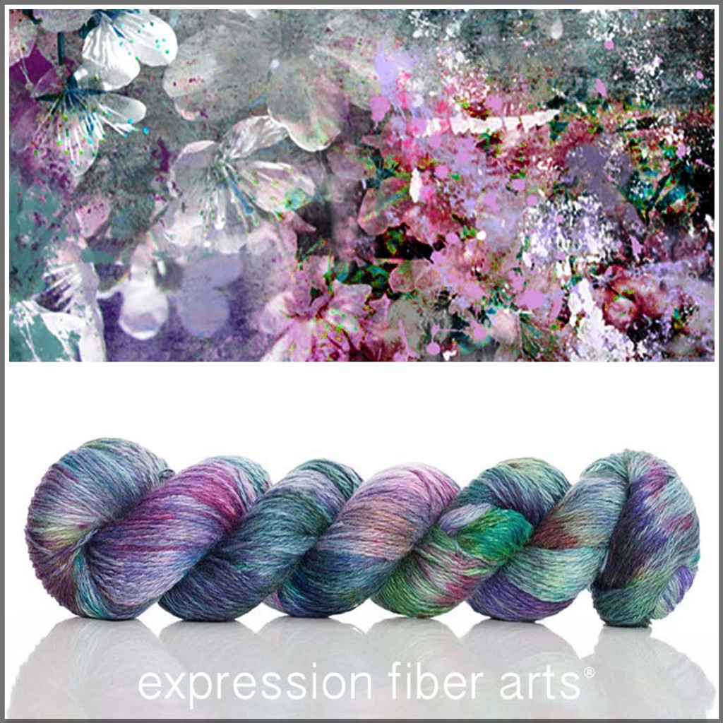 Limited Edition SUGARPLUM VISIONS SHIMMERING CASHMERE FINGERING