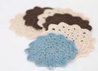 Free Crochet Fancy Flower Coaster Pattern