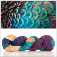 PLUSH PEACOCK YAK SILK LACE YARN