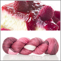 RASPBERRY CHEESECAKE 'LUSTER' SUPERWASH MERINO TENCEL SPORT