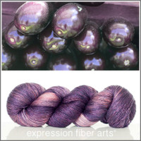 EGGPLANT SUPERWASH MERINO SILK PEARLESCENT FINGERING