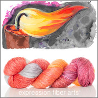CANDLE FLAME 'LUSTER' SUPERWASH MERINO TENCEL SPORT