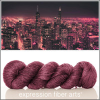 CHICAGO AT NIGHT 'LUSTER' SUPERWASH MERINO TENCEL SPORT