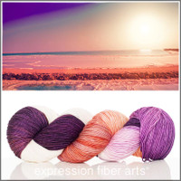 DEAD SEA SUNRISE 'RESILIENT' SUPERWASH MERINO SOCK