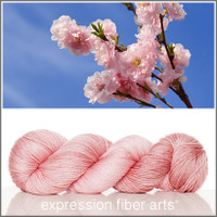 PEACH BLOSSOM PINK 'LUSTER' SUPERWASH MERINO TENCEL SPORT